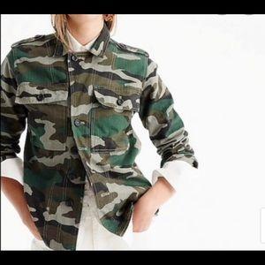 J. Crew Camouflage Utility Shirt Jacket Camo SZ  S